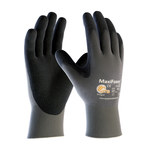 PIP MaxiFoam Lite 34-900 Gray Large Nylon Work Gloves - EN 388 1 Cut Resistance - Nitrile Palm & Fingertips Coating - 9.1 in Length - 34-900/L