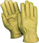 Red Steer 1555 Tan Large Grain Cowhide Leather Driver's Gloves - Keystone Thumb - 1555-L