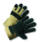 West Chester 500DP-AA White Large Split Cowhide Leather Work Gloves - Wing Thumb - 10 in Length - 500DP-AA/L
