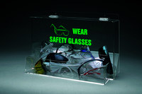 Brady Safety Glasses, Safety Goggles Dispenser 46128 - 18 in Width - 12 1/4 in Height - Tabletop Mount, Wall Mount - 754476-46128