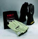 PIP Novax 150-SK Black 9 Goatskin Leather/Rubber Electrical Glove Kit - 11 in Length - 150-SK-00/9