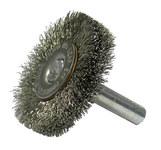 Weiler Stainless Steel Radial Bristle Brush - 1 1/2 in Outside Diameter - 0.006 in Bristle Diameter - 17971