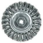 Weiler Steel Wheel Brush 0.014 in Bristle Diameter - Arbor Attachment - 4 in Outside Diameter - 13103