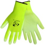 Global Glove PUG11 Lime 2XL Nylon Work Glove - Polyurethane Palm Coating - PUG11/2XL