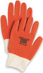 North Nitri-Kote 78/1142 Brown/White Medium Cotton/Polyester Work Gloves - Nitrile Full Coverage Except Cuff Coating - Rough Finish - 78/1142M