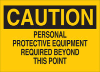 Brady B-401 Polystyrene Rectangle Yellow PPE Sign - 10 in Width x 7 in Height - 25204