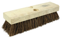 Weiler 440 Rectangular Scrub Brush - Hardwood Handle - Palmyra Bristle - Hardwood Block - 10 in Overall Length - 44026