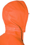Ansell AlphaTec 66-684 Fluorescent Orange Universal CPC Polyester Trilaminate Reusable Chemical-Resistant Hood - Detachable Hood - 076490-12755
