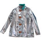 Chicago Protective Apparel Large Aluminized Carbon Fleece Heat-Resistant Coat - 30 in Length - 600-ACF LG