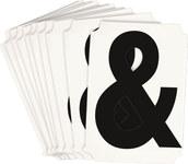 Brady Quik-Align 8220-& Black Vinyl Punctuation Label - Outdoor - 4 in Height - 4 in Character Height - B-933