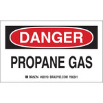 Brady 60310 Black / Red on White Paper Equipment Safety Label - 5 in Width - 3 in Height - B-235
