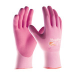 PIP MaxiFlex Active 34-8264 Pink Medium Lycra/Nylon Work Gloves - EN 388 1 Cut Resistance - Nitrile Palm & Fingers Coating - 8.5 in Length - 34-8264/M