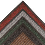 Notrax Heritage Rib 117 Charcoal Indoor Blended Yarn Carpeted Entry Mat - 3 ft Width - 2 ft Length - Vinyl Backing Material - 117 2 X 3 CH