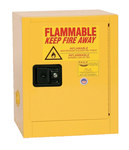 Eagle 4 gal Yellow Steel Hazardous Material Storage Cabinet - 17 1/2 in Width - 22 1/2 in Height - Bench Top - 048441-33340