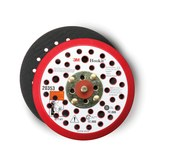 3M Hookit 20355 Hard Red Disc Pad - 6 in DIA - 3/8 in Thick - 5/16 - 24 External Thread Attachment