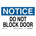 Brady B-558 Recycled Film Rectangle White Door Sign - 14 in Width x 10 in Height - 118241