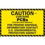 Brady 87029 Black on Yellow Vinyl Hazardous Material Label - 2 in Width - 1 in Height - B-946