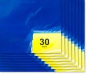 Purus PS 1836 Blue Polyethylene Frameless Tacky Sheet Mat - 18 in Width - 36 in Length - 30 Sheets Per Mat - PS 1836 38 B
