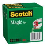 3M Scotch 810-3PK Magic Clear Office Tape - 3/4 in Width x 1296 in Length - 69883