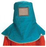 Chicago Protective Apparel 647 Blue Canvas Sandblast Hood - 647-BFRD