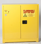 Eagle 30 gal Yellow Steel Hazardous Material Storage Cabinet - 43 in Width - 44 in Height - Floor Standing - 048441-33110