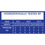 Brady 76303 Blue on White Acrylic Maintenance Label - 3 in Width - 1 1/2 in Height - B-927