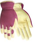 Red Steer 1508 Red Medium Grain Cowhide Leather Work Gloves - Wing Thumb - 1508-M