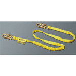 Miller Manyard 216WLS Yellow Polyester Webbing Shock-Absorbing Lanyard - 6 ft Length - 612230-00008