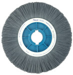 Weiler Silicon Carbide Wheel Brush 0.022 in Bristle Diameter 320 Grit - Shank Attachment - 12 in Outside Diameter - 85156