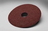 3M 381C Coated Aluminum Oxide Brown Fibre Disc - Fiber Backing - 80 Grit - Medium - 4 in Diameter - 7/8 in Center Hole - 20104