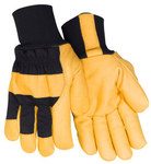 Red Steer 59360 Black Large Grain Pigskin Canvas/Leather Driver's Gloves - Wing Thumb - 59360-L