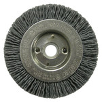 Weiler Silicon Carbide Wheel Brush 0.035 in Bristle Diameter 180 Grit - Arbor Attachment - 3 in Outside Diameter - 1/2 to 3/8 in Center Hole Size - 31084