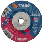 Weiler TIGER Standard (Type 27) Aluminum Oxide Grinding Wheel - 24 Grit - 4 1/2 in Diameter - 1/4 in Thick - 57120