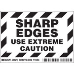Brady 86213 Black on White Polyester Equipment Safety Label - 5 in Width - 3 1/2 in Height - B-302