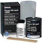 Devcon Flexane 80 Two-Part Black Urethane Adhesive - Liquid 1 lb Kit - 15800