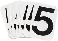 Brady Quik-Align 8215-5 Black Vinyl Number Label - Outdoor - 3 in Height - 3 in Character Height - B-933