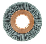 Weiler Silicon Carbide Wheel Brush 0.035 in Bristle Diameter 180 Grit - Arbor Attachment - 1 1/2 in Outside Diameter - 1/2 in Center Hole Size - 29353