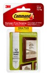 3M Command 17206-12ES White Hanging Strips 4 lbs per set Weight Capacity - 35757