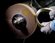 3M Scotch-Brite CP-FB Non-Woven Aluminum Oxide Flap Wheel - 1 in Face Width - 8 in Diameter - 4 in Center Hole - Density Grade: Medium - 04110