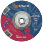 Weiler TIGER Standard (Type 27) Aluminum Oxide Grinding Wheel - 24 Grit - 6 in Diameter - 1/4 in Thick - 57128