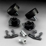 3M L-Series L-141/37016 Black Face Shield Assembly - 051131-37016