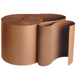 Shipping Supply Kraft Singleface Corrugated Roll - 250 ft x 24 in - SHP-12358