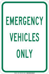 Brady B-555 Aluminum Rectangle White Parking Restriction, Permission & Information Sign - 12 in Width x 18 in Height - 129579
