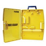 Brady Yellow Polypropylene Padlock Station - 13.25 in Width - 17 in Height - 754473-03460