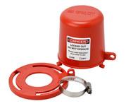 Brady Red Polypropylene Plug Valve Lockout 113233 - 1 to 8 in Compatible Diameter - 754473-17666