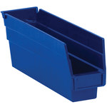 Blue Shelf Bins - 11.625 in x 2.75 in x 4 in - SHP-3092