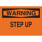 Brady B-120 Fiberglass Reinforced Polyester Rectangle Orange Fall Prevention Sign - 14 in Width x 10 in Height - 69609