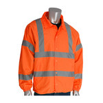 PIP 333-WBOR Hi-Vis Orange Large Polyester Cold Condition Jacket - 2 Pockets - Fits 51.2 in Chest - 28.9 in Length - 616314-07423