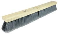 Weiler 421 Push Broom Head - Black / Gray Polypropylene Medium 3 in Bristle - 24 in Hardwood Block - 44581