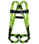 Miller Python P950 Green Universal Vest-Style Back Padding Body Harness - Duraflex Webbing - 612230-17895